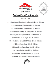 Absolute Spring Fish Fry Supply Specials