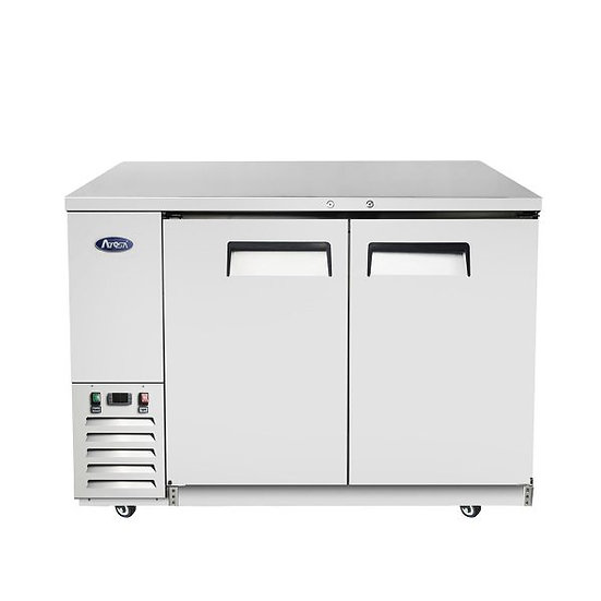 """2-Door Stainless Steel Door Back Bar Cooler 48"""" - MBB48-GR"""