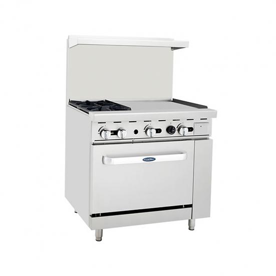 """2-Burner Range w/ 24"""" Manual Griddle & Single Oven 36"""" - ATO-2B24G"""