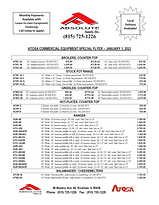Atosa Cooking Equipment Sales Flyer 0101