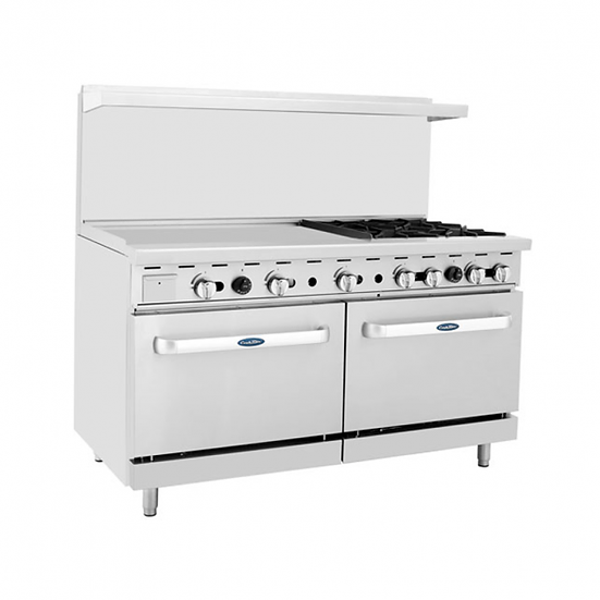 "4-Burner Range w/ 36"" Manual Griddle & Double Oven 60"" - ATO-36G4B"