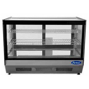 """Straight Glass Countertop Deli Refrigerator 36"""" - CRDS-56"""