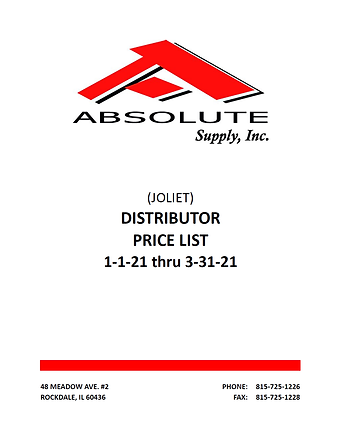 Absolute Supply Showroom Pricebook 01012