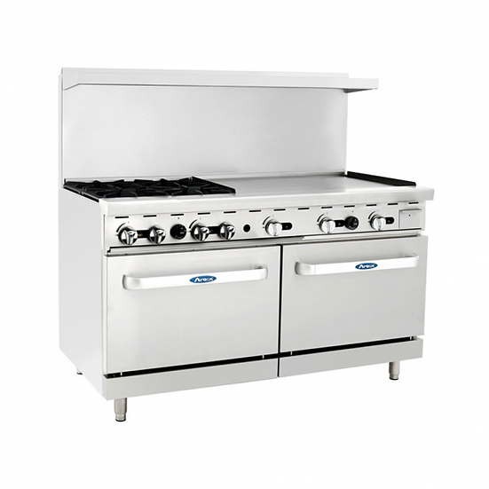 "4-Burner Range w/ 36"" Manual Griddle & Double Oven 60"" - ATO-4B36G"