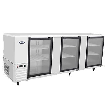 90in Glass Door Back Bar Cooler MBB90G-GR