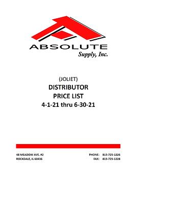 Absolute Supply Showroom Pricebook 04012