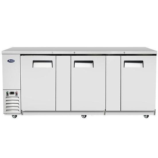 """3-Door Stainless Steel Door Back Bar Cooler 90"""" - MBB90-GR"""
