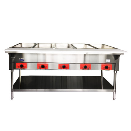 "5-Well Electric Steamtable 72-1/2"" - CSTEB-5B"