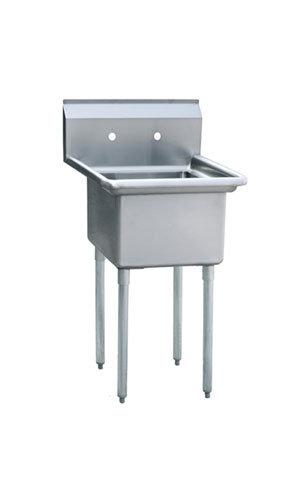 """1-cmpt Stainless Steel Sink 24"""" - MRSA-1-N"""