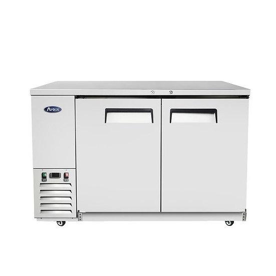 """2-Door Stainless Steel Door Back Bar Cooler 58"""" - MBB59-GR"""