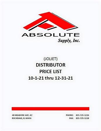 Absolute Supply Showroom Pricebook 10012