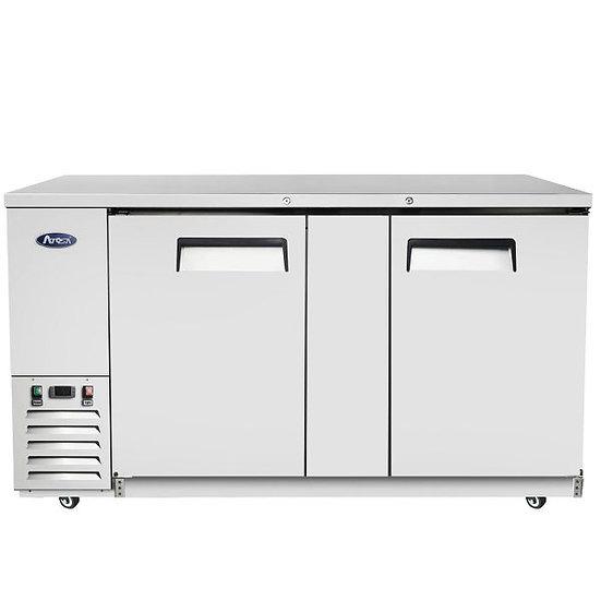 """2-Door Stainless Steel Door Back Bar Cooler 68"""" - MBB69-GR"""
