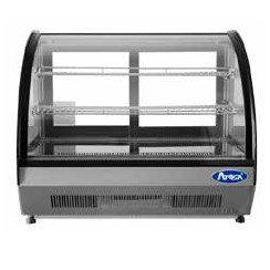 "Curved Glass Countertop Deli Refrigerator 28"" - CRDC-35"