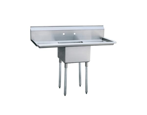 "1-cmpt Stainless Steel Sink w/ 18"" Left & Right Drainboards 54"" - MRSA-1-D"