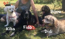 Avec Didi, Bijou et Kika