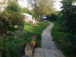 Le jardin pour étirer les papattes