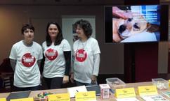 Cathy, Samantha et Christiane lors d'une journée à la Maison de la Radio dédiée à Animaux Séniors