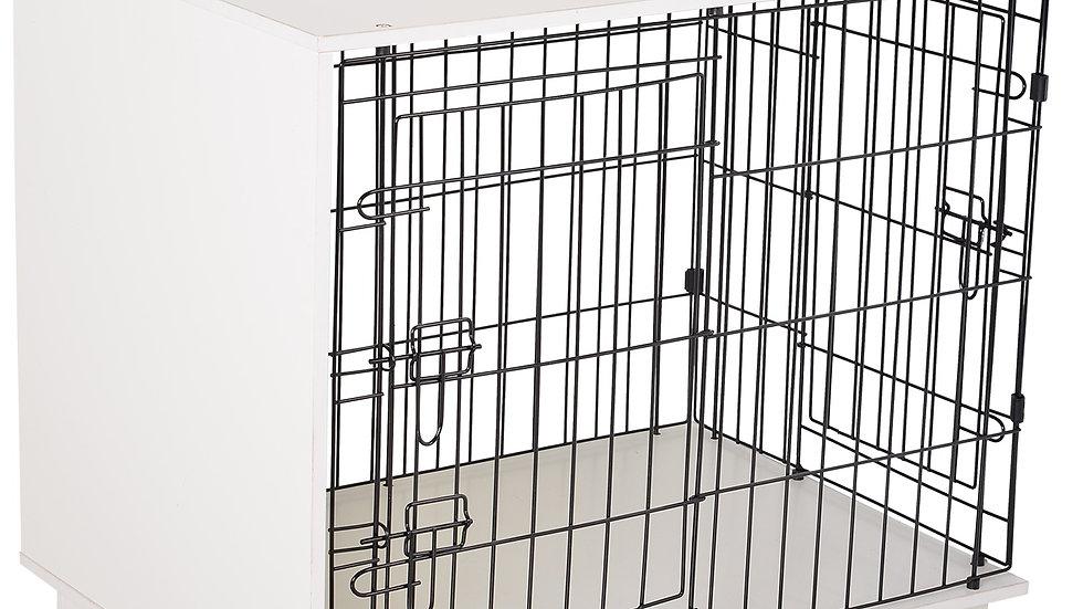 Sausage Dog Box 2 Door Cage White