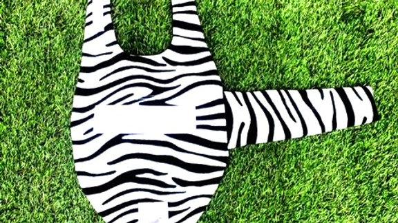 Sausage Dog Box Designer Fleece Waterproof 'Zebra' Dachshund Coat