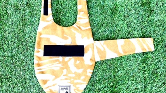 Sausage Dog Box Designer Fleece Waterproof 'Camo' Dachshund Coat