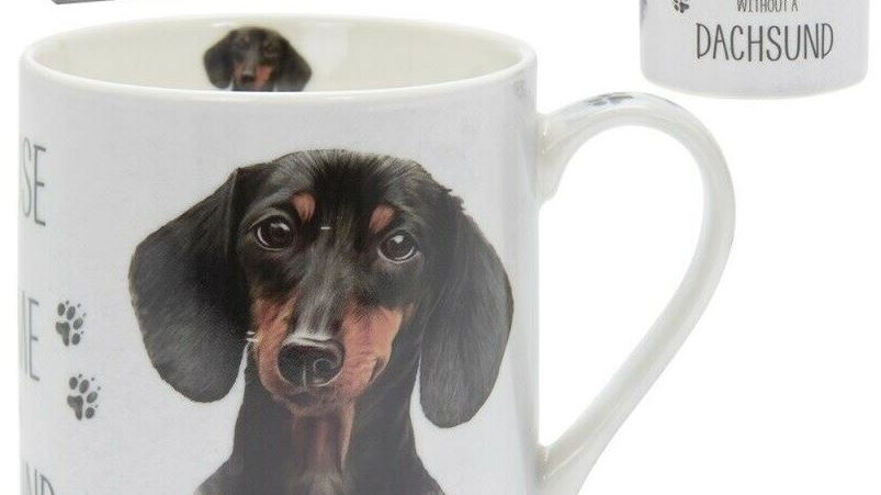 Sausage Dog Box, Dachshund Sausage Dog Dachshund China Boxed Mug