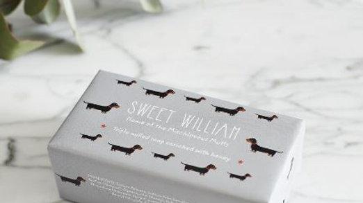 Sausage Dog Box, Dachshund Sweet William Sausage Dog Milled Soap