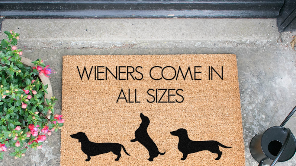 Sausage Dog Box, Dachshund Wieners Doormat