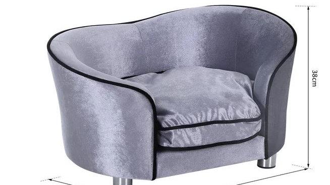 Sausage Dog Box Sofa Bed Silver Grey