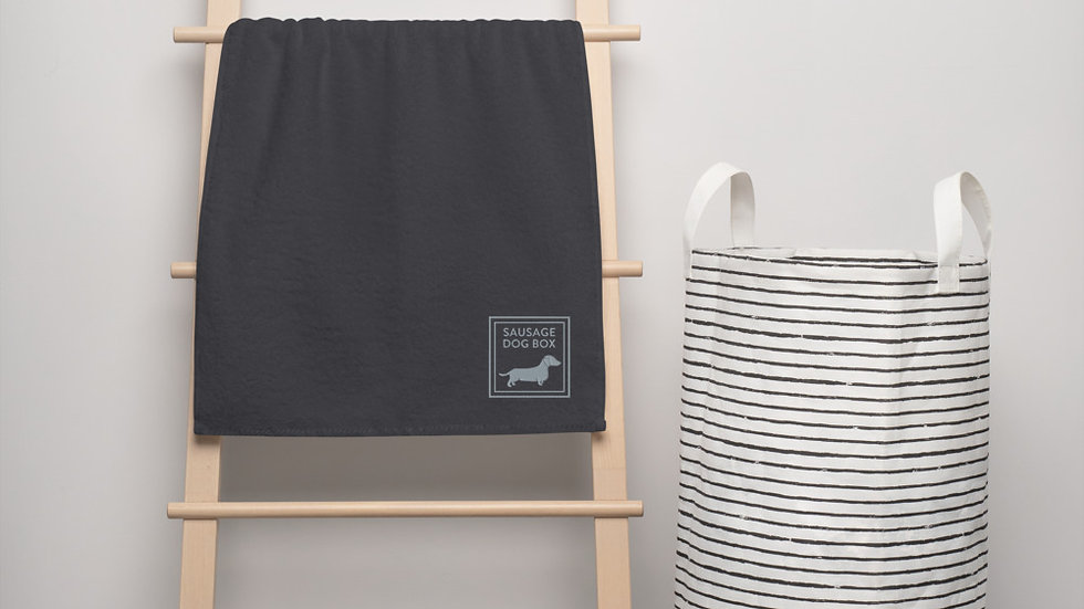 Sausage Dog Box, Dachshund Premium Cotton Towels