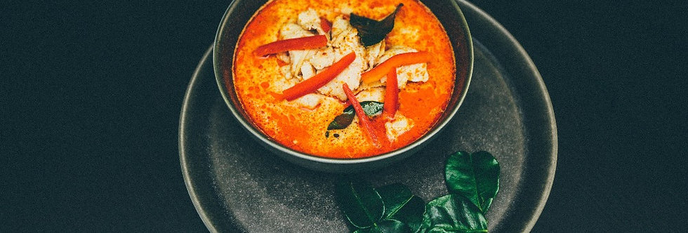 Veg thai red curry with satay