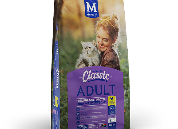 MONTEGO CLASSIC ADULT CAT - CHICKEN - 1KG