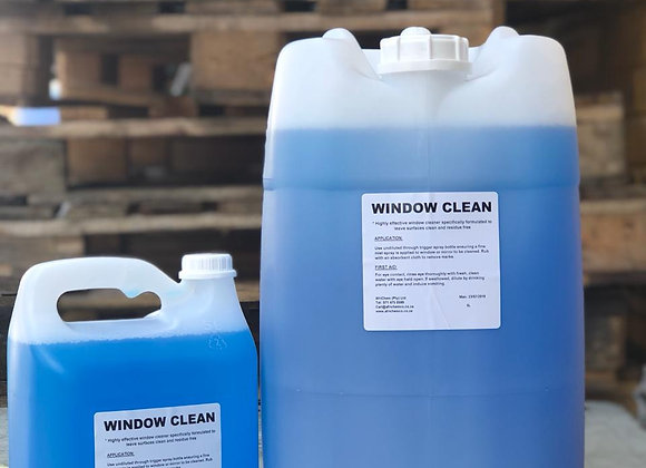 Windowclean (Window/Glass Cleaner)   - Sizes available from 1L to 25L