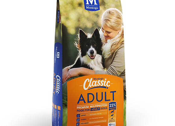 MONTEGO CLASSIC ADULT DRY DOG FOOD 10KG