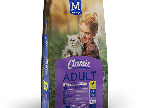 MONTEGO CLASSIC ADULT CAT - CHICKEN - 3KG
