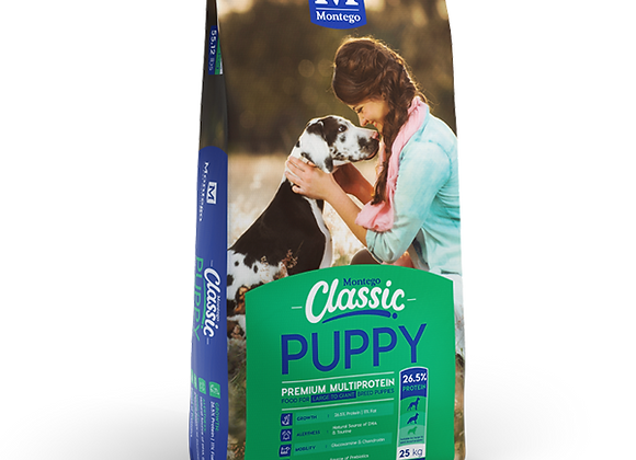 MONTEGO CLASSIC PUPPY LARGE TO GIANT BREED PUPPY DRY FOOD 25KG