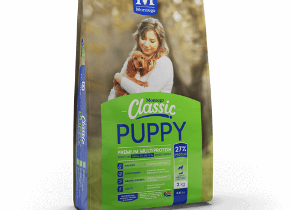 MONTEGO CLASSIC PUPPY SMALL - MEDIUM DRY FOOD 25KG