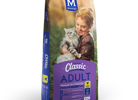 MONTEGO CLASSIC ADULT CAT - CHICKEN - 5KG