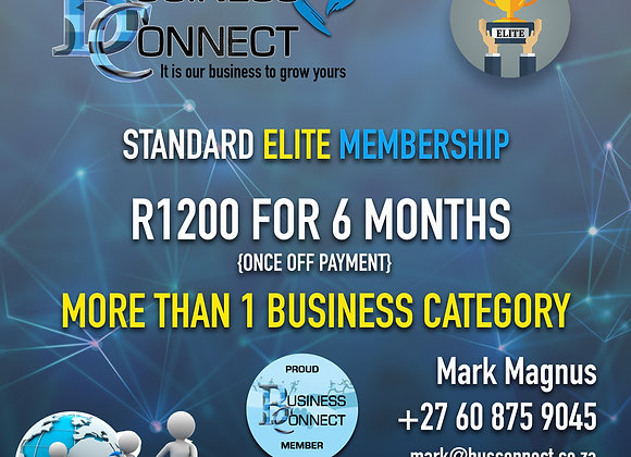 STANDARD ELITE MEMBERSHIP FOR 6 MONTHS - ONLY R750 TO RENEW