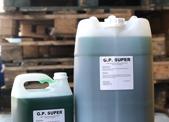 GP Super (General Purpose Cleaner)     - Sizes available from 1L to 25L