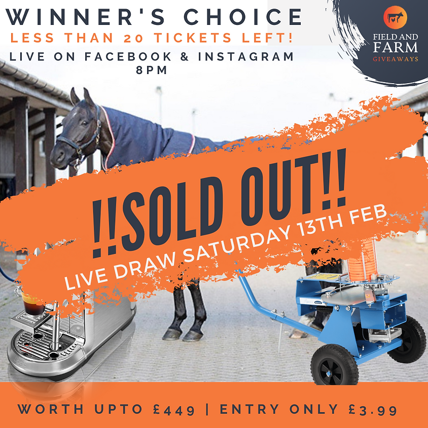SOLD OUT! Winner's Choice - Choice of 3 Prizes!