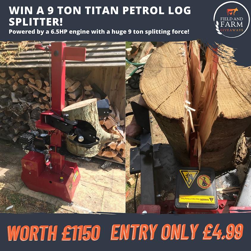 9 Ton Titan Professional Petrol Log Splitter!