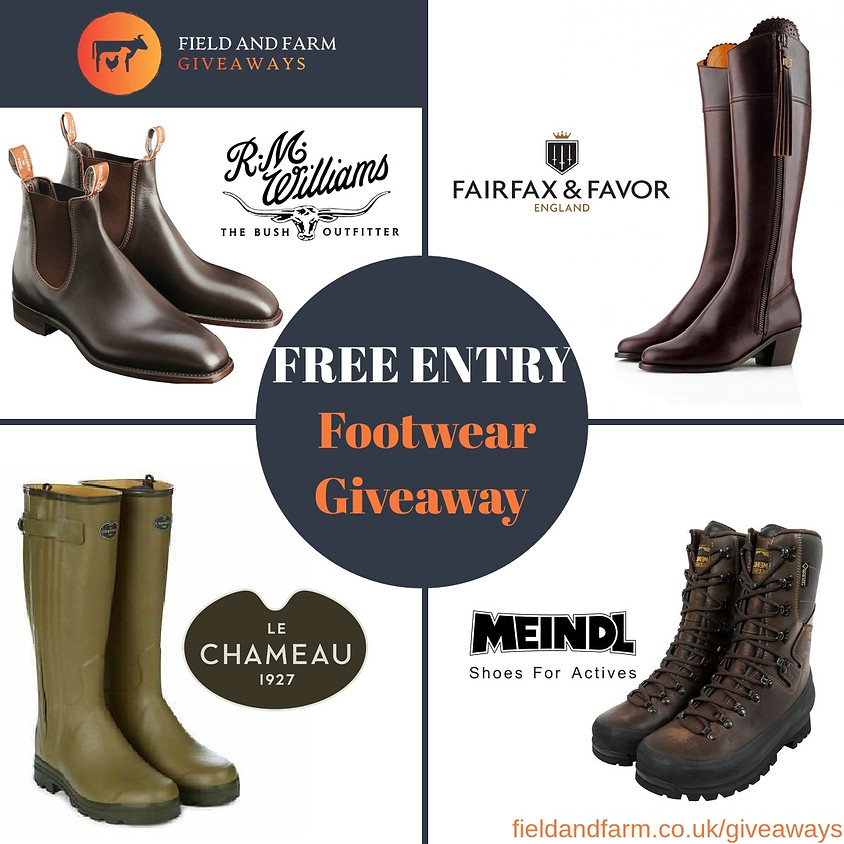 Free Giveaway - Choice of Four Different Boots