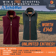 Ellie from Facebook was the winner of a Schoffel Gilet in her choice of size and colour!!