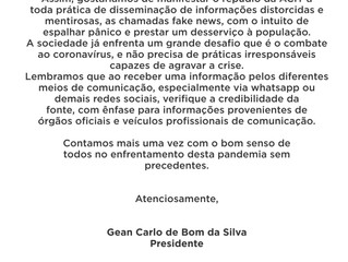 Nota de repúdio contra as fake news