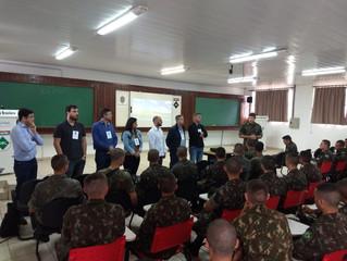 Programando o Futuro é apresentado na 3ª Companhia do Exército em Tubarão