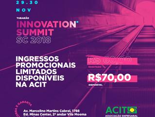 Será esta semana: 1º Festival de Inovação - InnovationSummitSC na Arena Multiuso