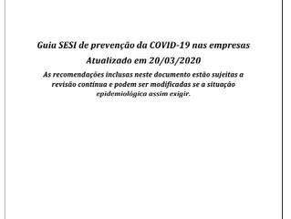 Guia de prevenção ao Covid-19