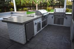 backyard grill island