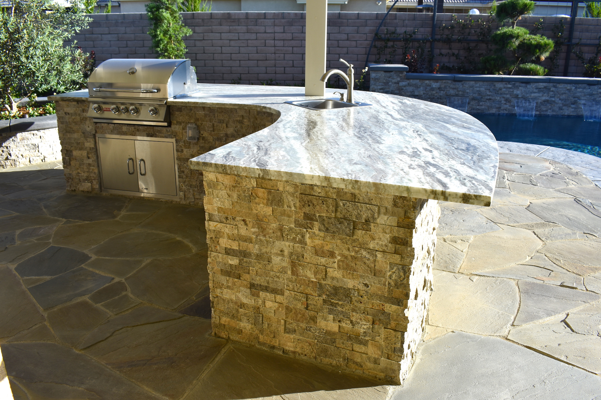 Custom Backyard Kitchen