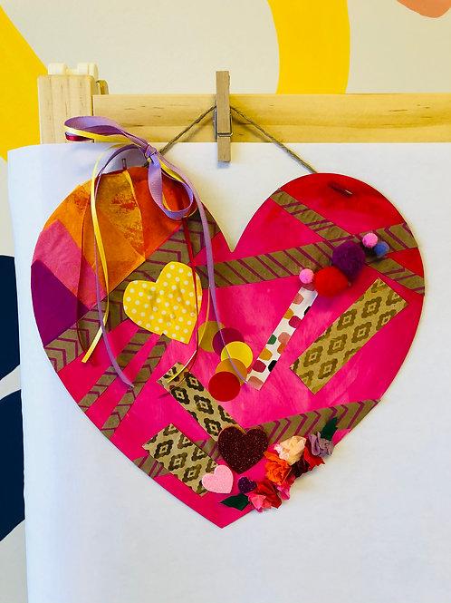 Wood Heart Art Kit